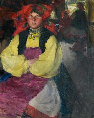 Abram Arkhipov. Woman in a yellow shirt