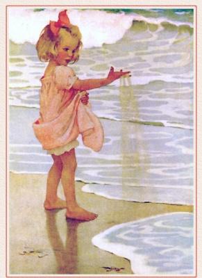 Джесси Уиллкокс Смит. Девочка играет с песком