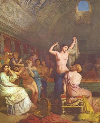 Теодор Шассерио. Римская баня. Деталь