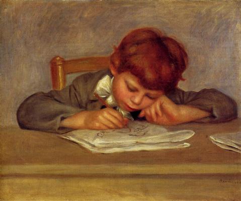 Pierre-Auguste Renoir. Jean at Drawing