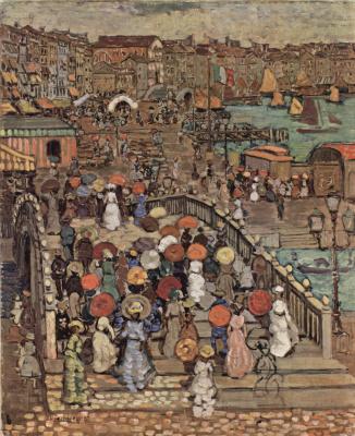 Морис Брэзил Прендергаст. Мост Палья в Венеции