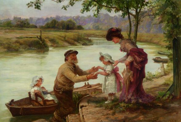 Фредерик Морган. Прогулка по реке