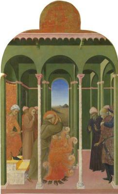 Сассетта. Святой Франциск перед султаном