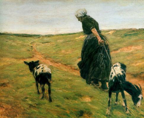 Макс Либерман. Женщина с козами