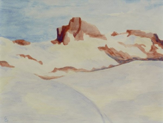 Giovanni Giacometti. The Piz Lagrew, Switzerland