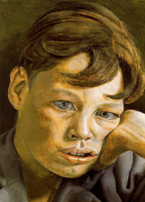 Lucien Freud. Boy's head