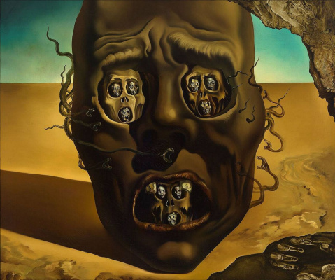 Salvador Dali. Face of war
