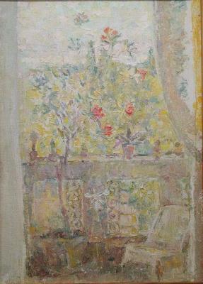 Дина Михайловна Фрумина. Цветы на балконе