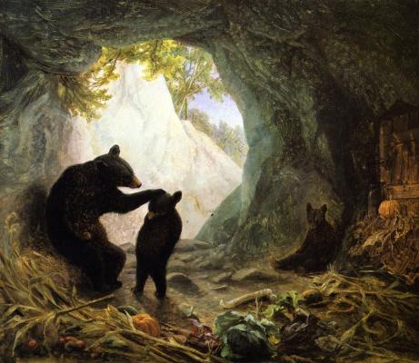 Уильям Холбрук Берд. Медведь и медвежата