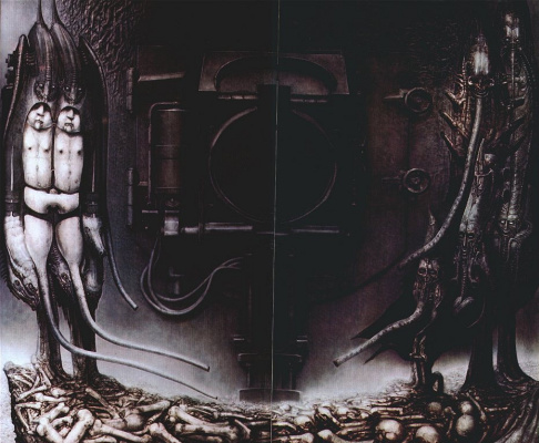 Hans Rudolph Giger. Entrance to the temple of death