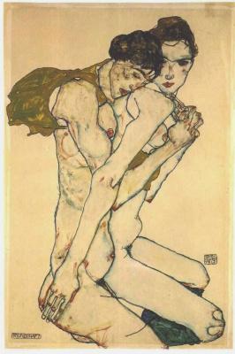 Эгон Шиле. Обнаженные мужчина и женщина