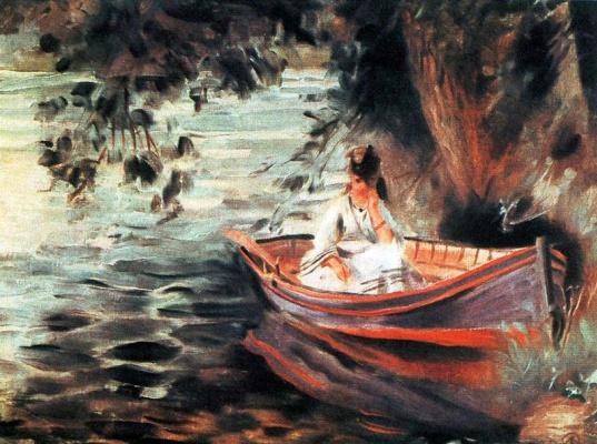 Пьер Огюст Ренуар. Женщина в лодке