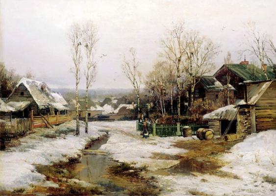 Иван Августович Вельц. Весной в окрестностях Петербурга