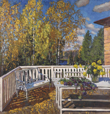 Stanislav Yulianovich Zhukovsky. Terrace in autumn