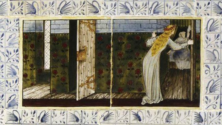 William Morris. Sleeping Beauty (Together with Edward Burne-Jones). Panel 3