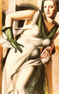 Tamara Lempicka. Lady in the green gloves
