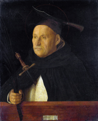 Giovanni Bellini. Dominican monk with the attributes of St. Peter the Martyr