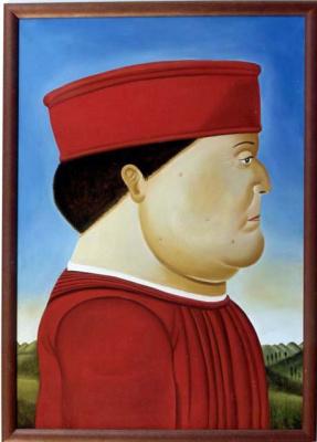 Fernando Botero. Federico da Montefeltro (Piero della Francesca)
