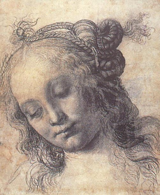 Andrea del Verrocchio. The girl's head