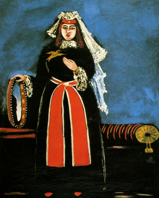 Niko Pirosmani (Pirosmanashvili). Georgian woman with a tambourine