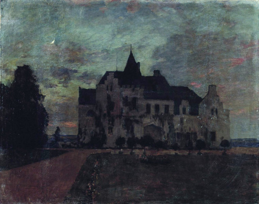 Isaac Levitan. Twilight. Castle