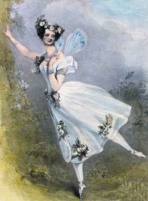 """Alfred Edward Chalon. Marie Taglioni in the ballet """"Zephyr and flora"""" by Charles Louis Didelot"""