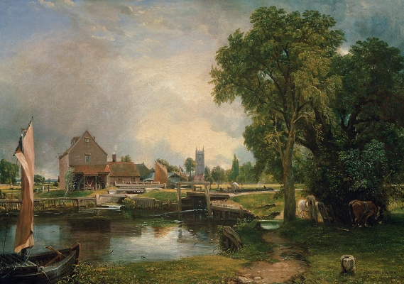John Constable. Gateway and mill in Dedham