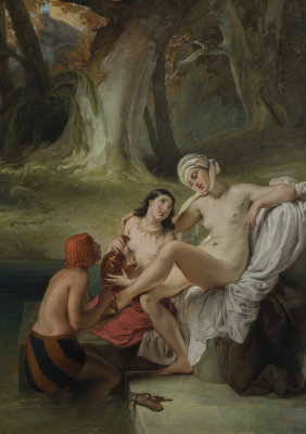 Francesco Ayets. Bathsheba in the bath
