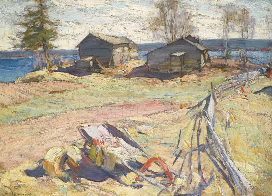 Abram Arkhipov. A village in the North