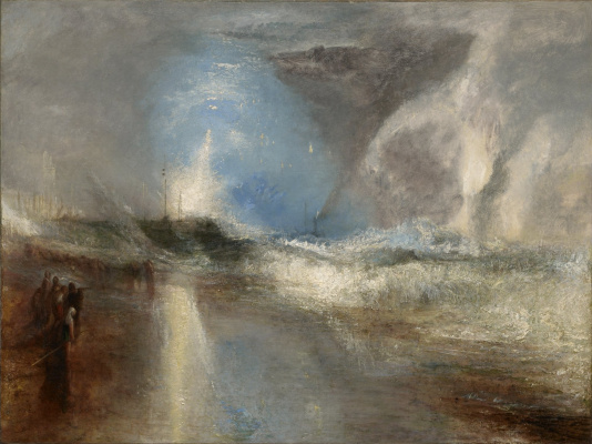 Joseph Mallord William Turner. Rockets and blue lights to warn ships about the shallow waters