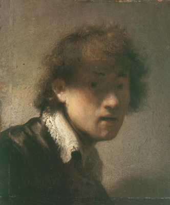 Rembrandt Harmenszoon van Rijn. Youthful self-portrait