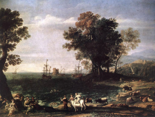 Claude Lorrain. The Rape Of Europa
