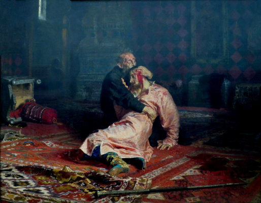 Ilya Efimovich Repin. Ivan the terrible and his son Ivan on 16 November 1581