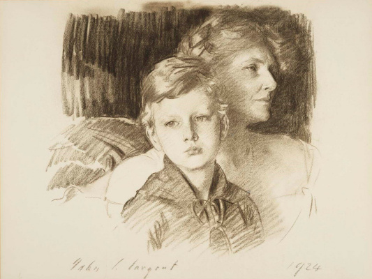 John Singer Sargent. Charlotte Nichols Greene and her son Stephen