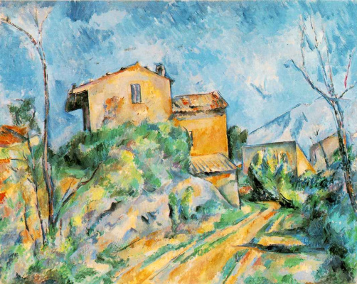 Paul Cezanne. House of Maria with a view of the Chateau Noir