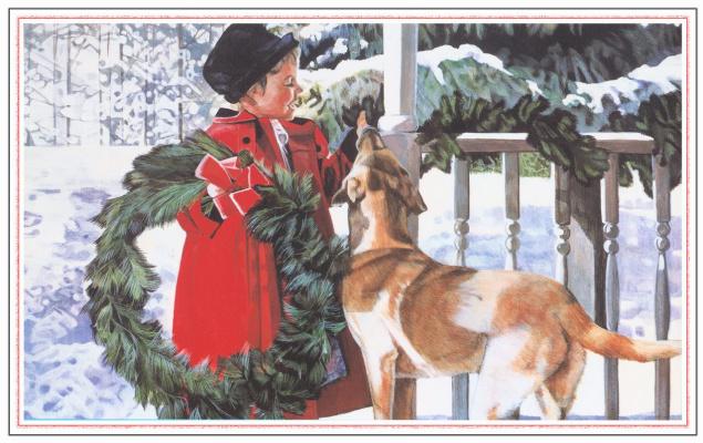 Рождественское украшение крыльца