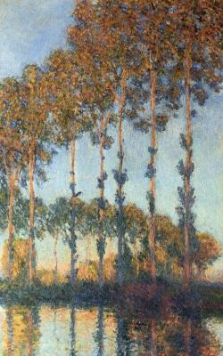 Claude Monet. Poplars along Apte (sunset Effect)