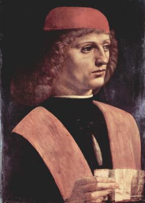 Leonardo da Vinci. Portrait of a musician