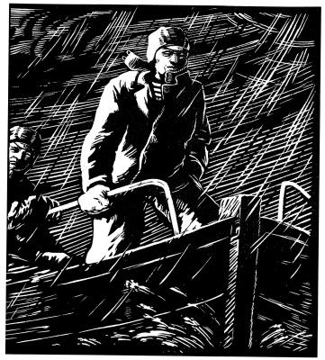 "Адольф Александрович Шевченко. Bad weather. From I a series ""Collective farm fishermen"""