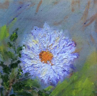 "Rita Arkadievna Beckman. Series ""Portraits of Favorite Flowers"" - Chrysanthemum"