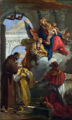 Джованни Баттиста Тьеполо. Virgin and Child Among the Saints