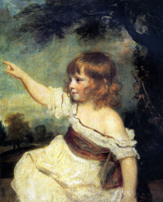 "Joshua Reynolds. Infant Francis George Hare, ""Mr. Hare"""