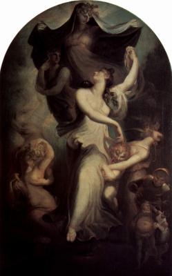 Johann Heinrich Fuessli. Eufrosina before Fantasy and Temperantia