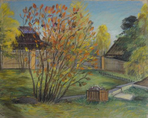Irina Soboleva. Autumn courtyard