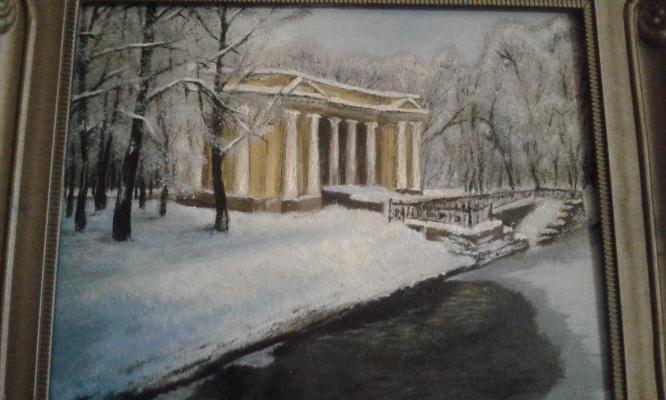 Koroleva Tatyana. The pavilion of the Mihajlovsky garden
