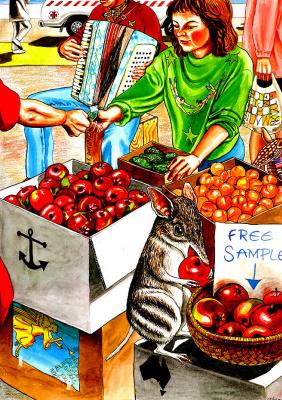 Стеве и Марион Ишам. Яблоки