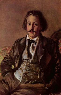 Адольф фон Менцель. Портрет Пауля Хейзе