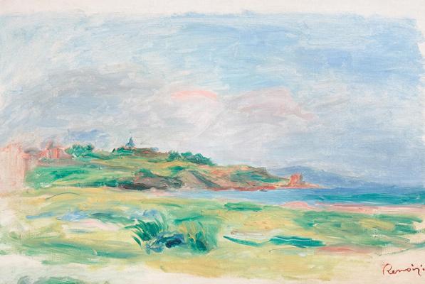 Pierre-Auguste Renoir. Bay, Sea, Green Cliffs
