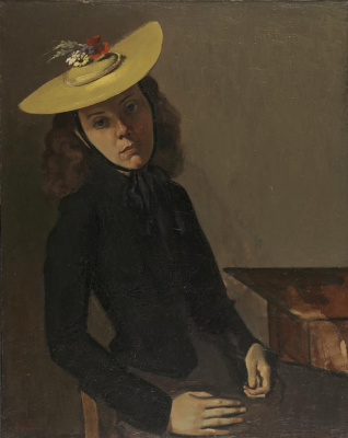 Balthus (Balthasar Klossovsky de Rola). Portrait of Antoinette (Woman in a Yellow Hat)