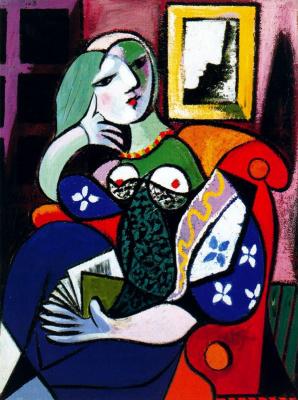 Пабло Пикассо. Женщина с книгой